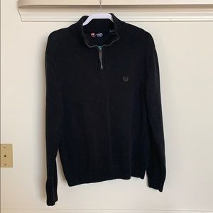 Blacks and tan 1/4 (quarter) zip sweater.